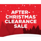 After Christmas Clearance Sale - Our Lowest Prices of the Year!