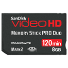 SanDisk Video HD Memory Stick PRO Duo Card