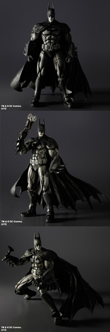 BATMAN: ARKHAM ASYLUM PLAY ARTS -KAI-  BATMAN [BLACK & WHITE EDITION]