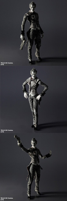 BATMAN: ARKHAM ASYLUM PLAY ARTS -KAI-  THE JOKER [BLACK & WHITE EDITION]