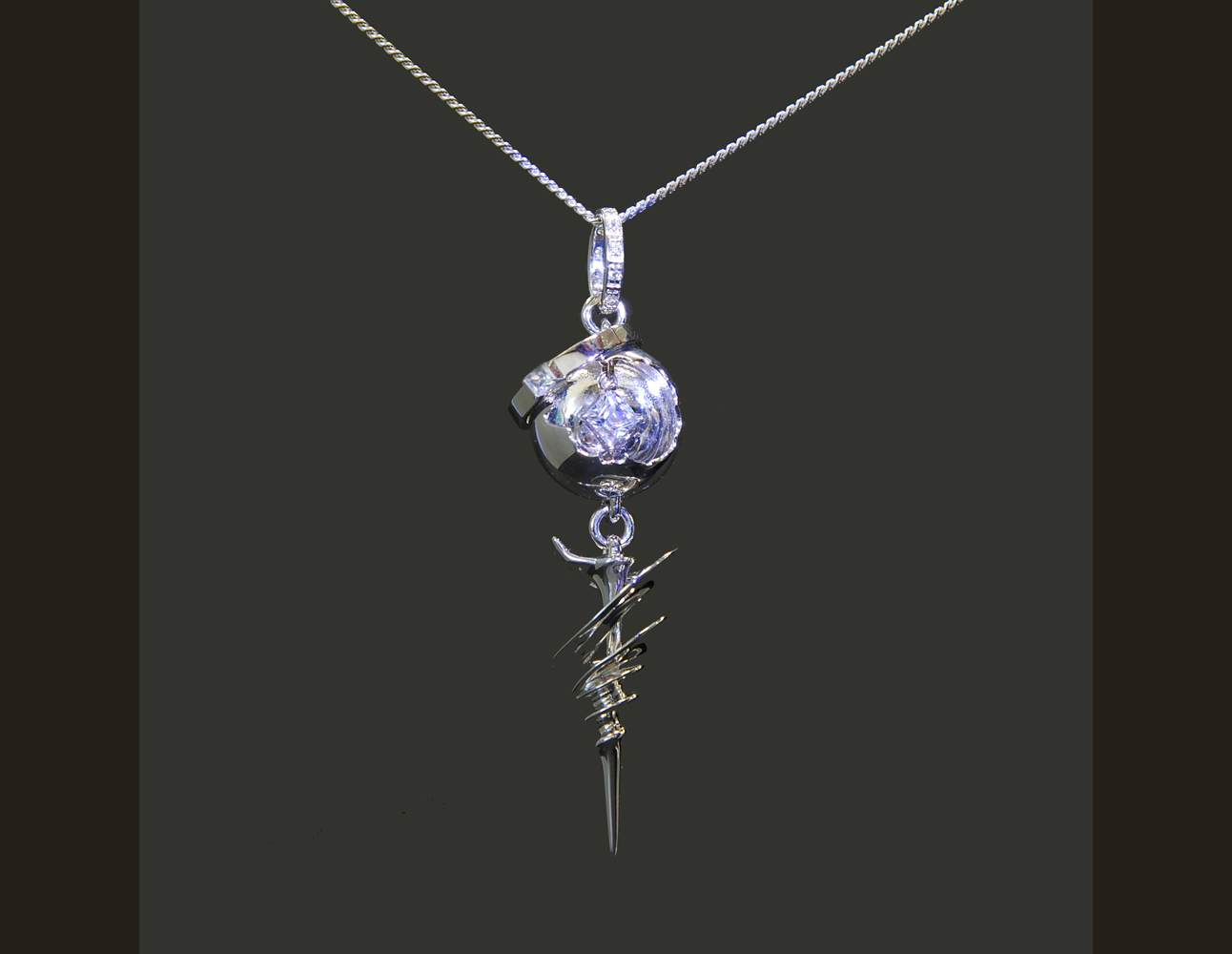 FINAL FANTASY XIII SILVER ENGAGEMENT PENDANT SERAH