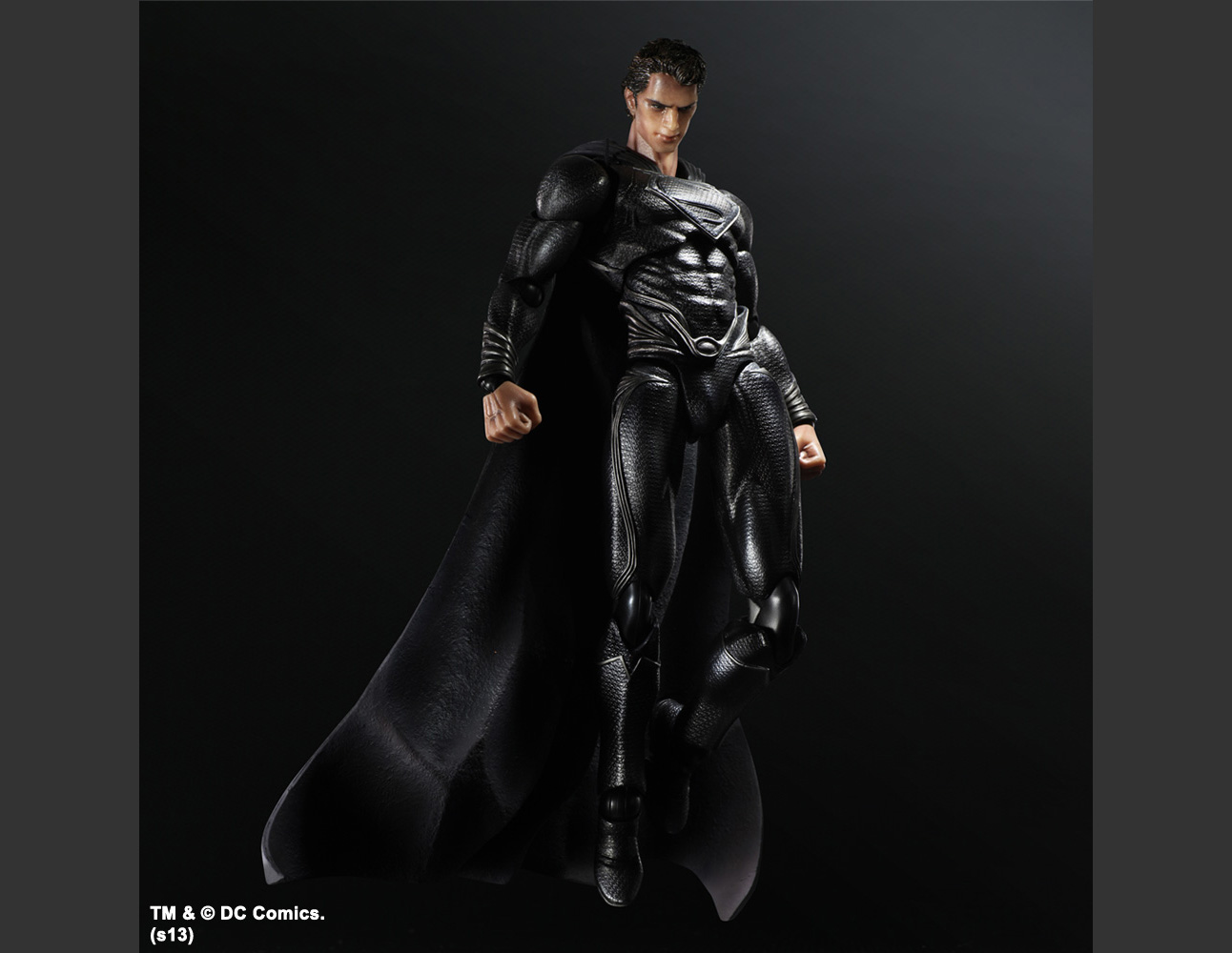MAN OF STEEL PLAY ARTS -KAI- SUPERMAN BLACK Ver. NYCC 2013 EXCLUSIVE