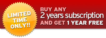 [Special Promo for Renew]***Buy 2 years and get 1 year free***
