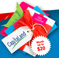 CapitaLand Vouchers (Worth up to $20!)