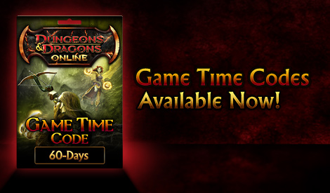 Dungeons & Dragons Online™ 60-Day Game Time Card