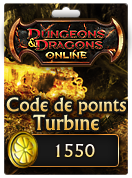 Code de points Turbine pour Dungeons & Dragons Online - 1550 points