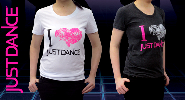 I 'heart' Just Dance Tee Short Sleeve T - Heather Black