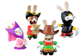Rabbids Travel in Time: 4 Figurines de 6cm - Ensemble B