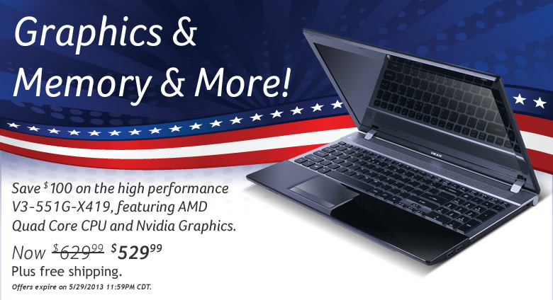 Aspire V3-551G-X419 Notebook (Windows 8)