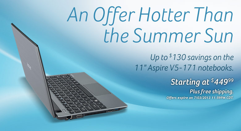 Aspire V5-171-6675 Notebook (Windows 8)