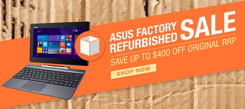Asus Outlet offers factory refurbished products with savings off retail price.