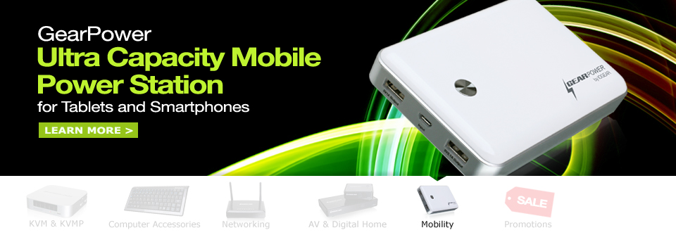 GearPower Ultra Capacity Mobile Power Station for Tablets and Smartphones