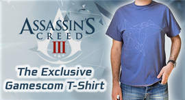 T-Shirt Gamescom di Assassin's Creed® III