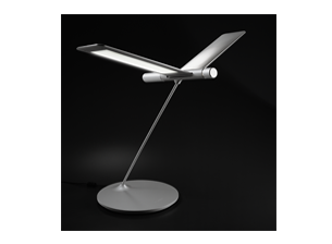 L Seagull LED Table Lamp Silver