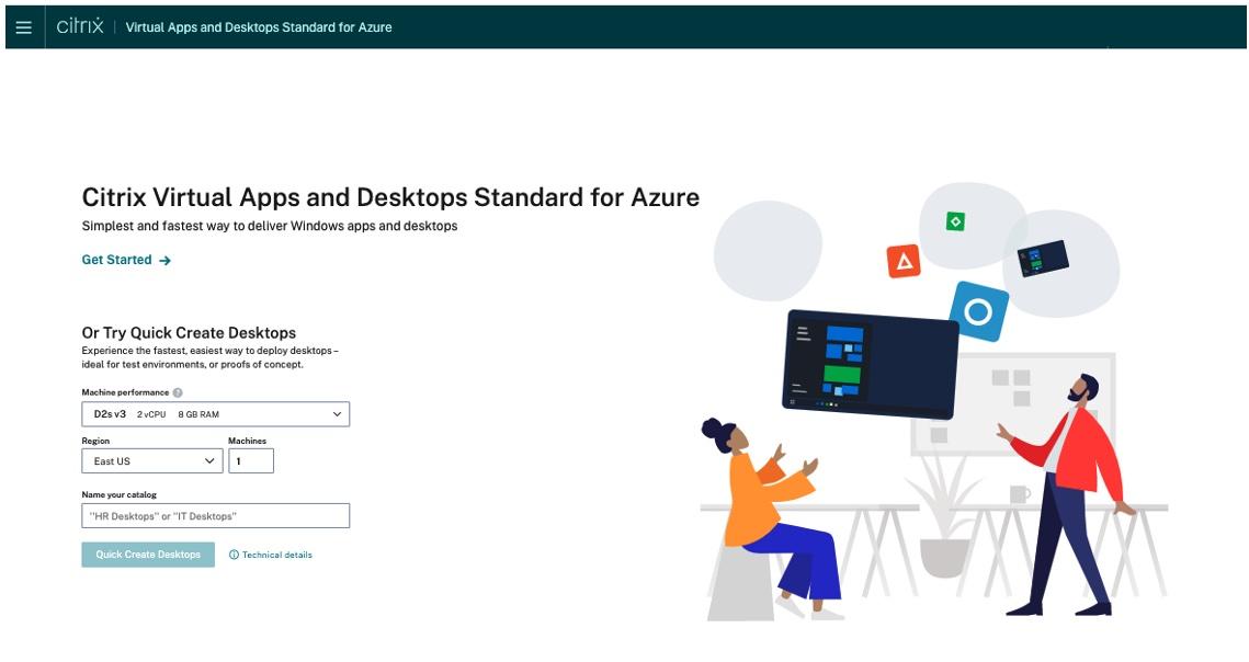 Citrix Virtual Apps and Desktops Standard for Azure