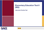 GACE Elementary Education Test II (002), Interactive Practice Test, 90-Day Subscription