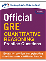 Official GRE® Quantitative Reasoning Practice Questions, Volume 1