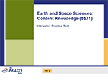 Earth and Space Sciences: Content Knowledge (5571), 90-Day Subscription