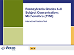Pennsylvania Grades 4-8 Subject Concentration: Mathematics (5158), 90-Day Subscription