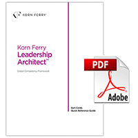 Korn Ferry Leadership Architect™ Sort card quick reference guide
