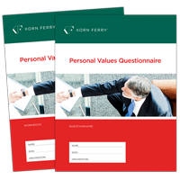 Personal Values Questionnaire (PVQ) includes Workbook - 10 PK