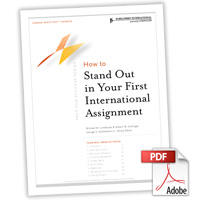 Career Architect® Express Prep for Success: How to Stand Out in Your First International Assignment