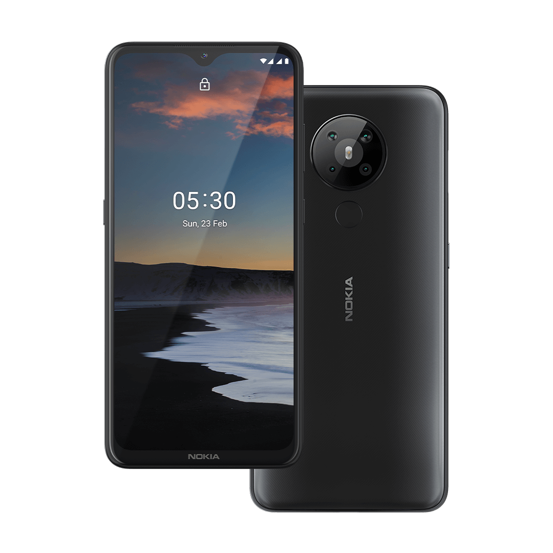 Nokia 5.3 smartphone with quad camera and large HD+ display ...