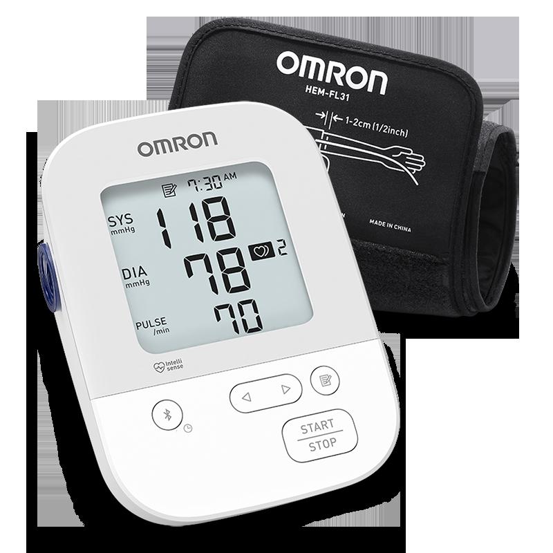 Silver Wireless Upper Arm Blood Pressure Monitor