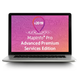 MapInfo® Pro v2019 Advanced Premium Services (Perpetual License)