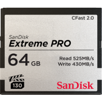 SanDisk Extreme Pro CFast 2.0 (525MB/s) Memory Card - 64GB