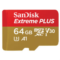 Deals on 64GB SanDisk Extreme PLUS  UHS-I Card w/Adapter