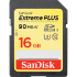 SanDisk Extreme PLUS SDHC 90MB/s UHS-I Memory Card - 16GB