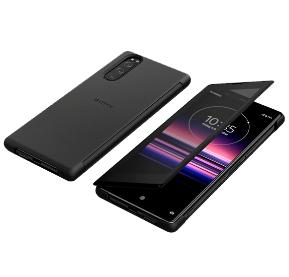 Funda de diseño transparente para Xperia 5 Negro