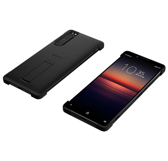 Style Cover with Stand for Xperia 1 II Black