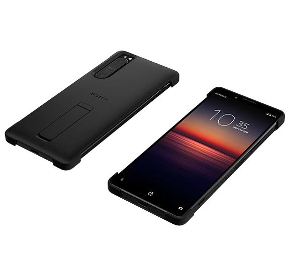 Sony Funda de diseño con soporte XQZ-CBAT para Xperia 1 II Netro