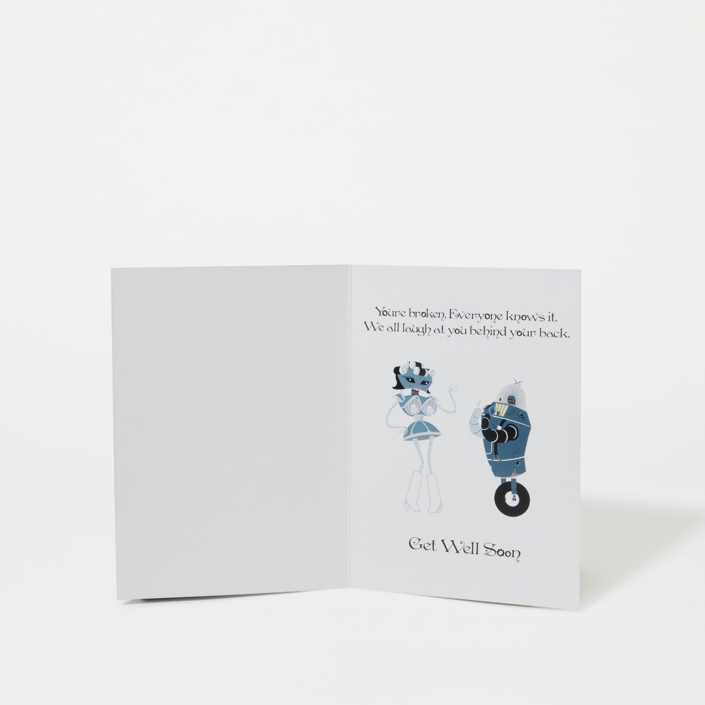 Loneliest Robot Greeting Card