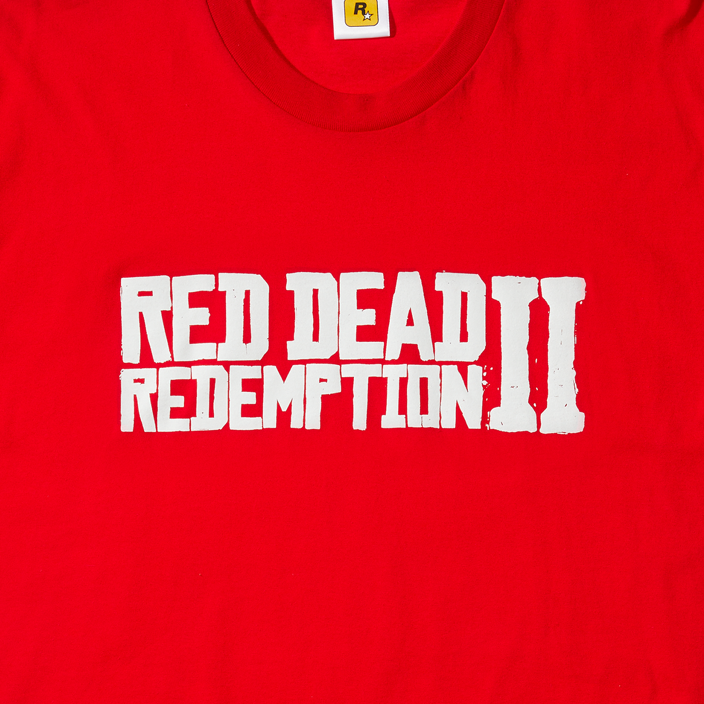 White on Red, Red Dead Redemption 2 Logo Tee