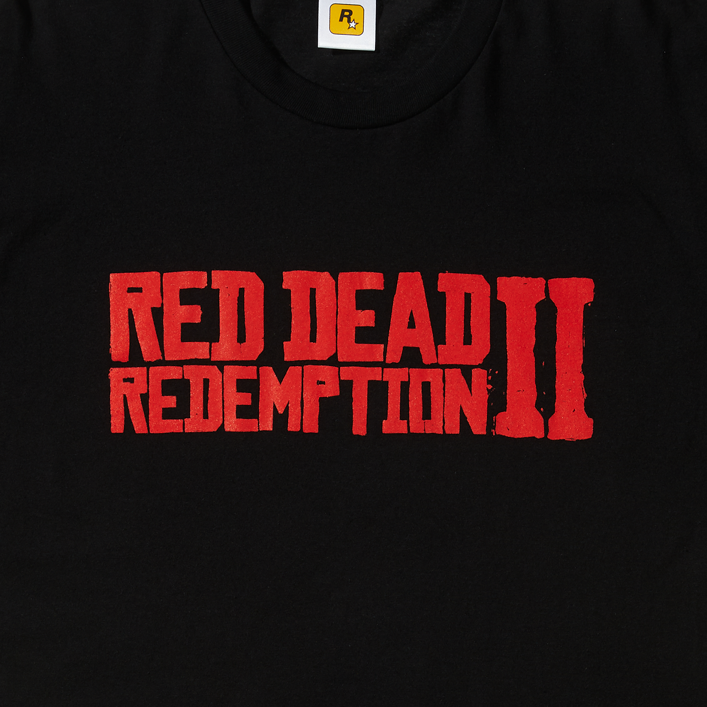 Red on Black Red Dead Redemption 2 Logo Tee