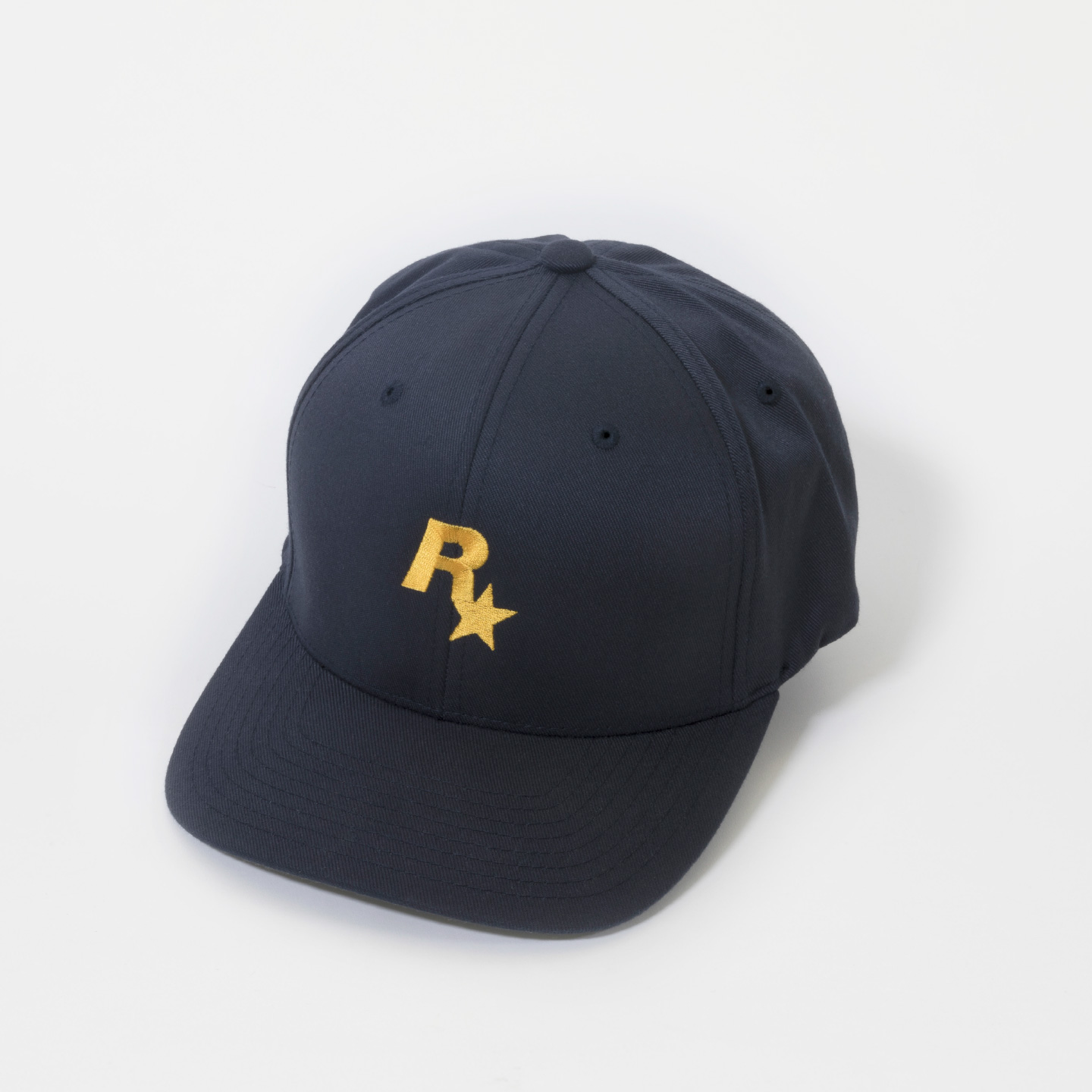 Rockstar Baseball Cap: Navy and Gold