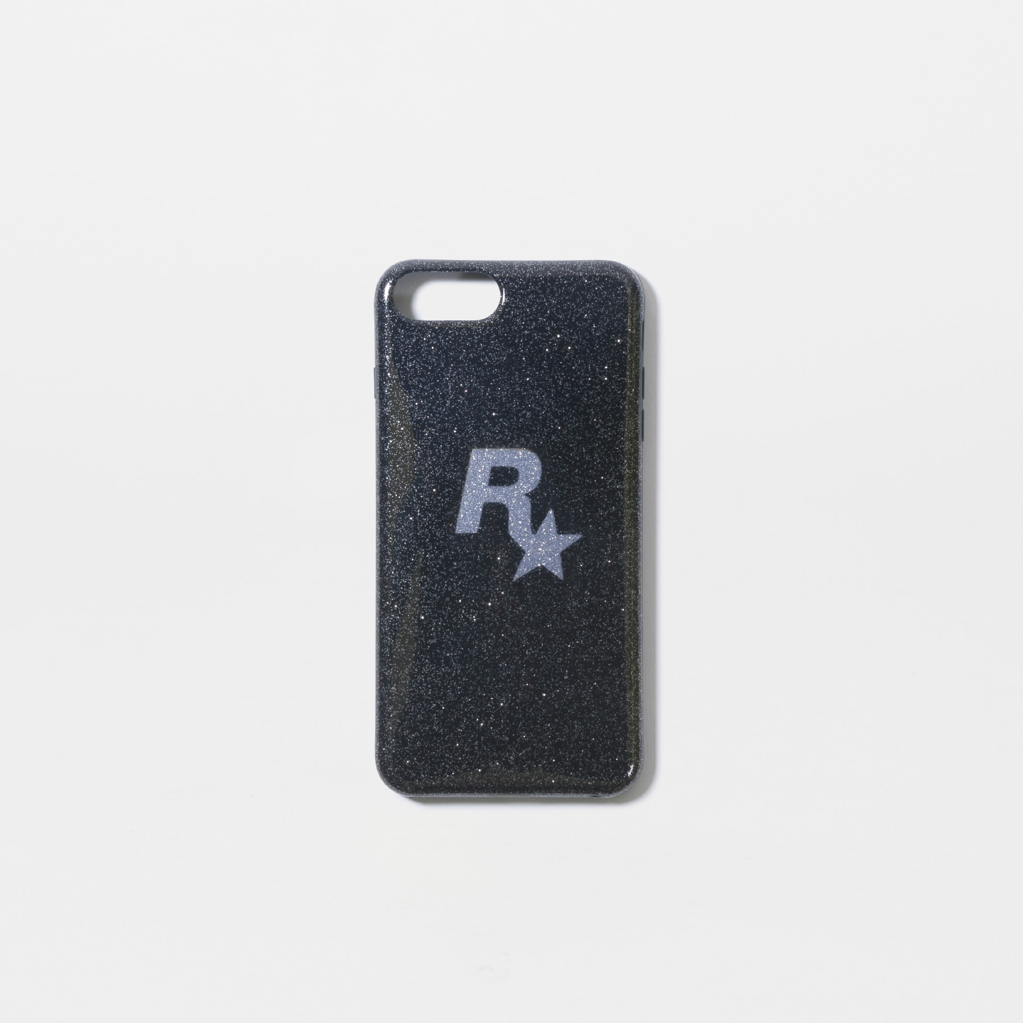 Silver Rockstar Glitter iPhone Case