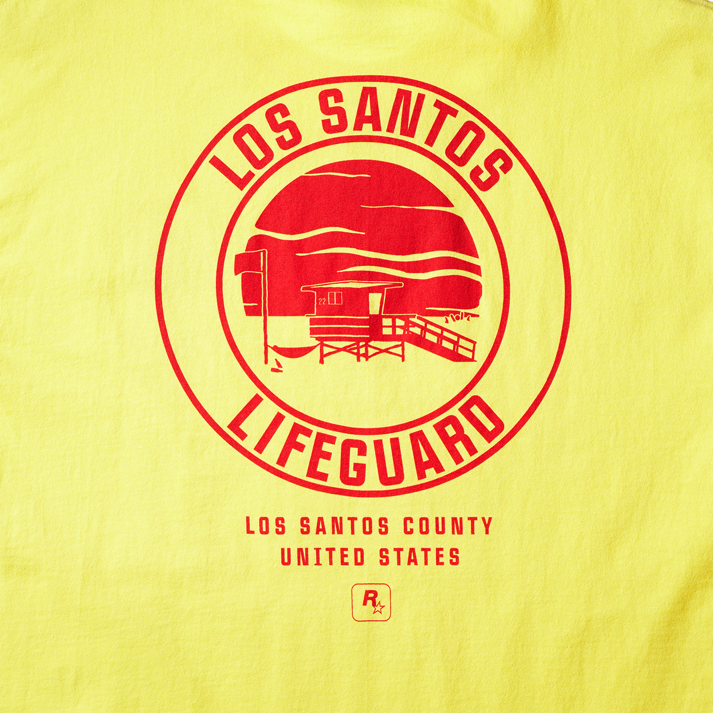 Yellow Los Santos Lifeguard Tee