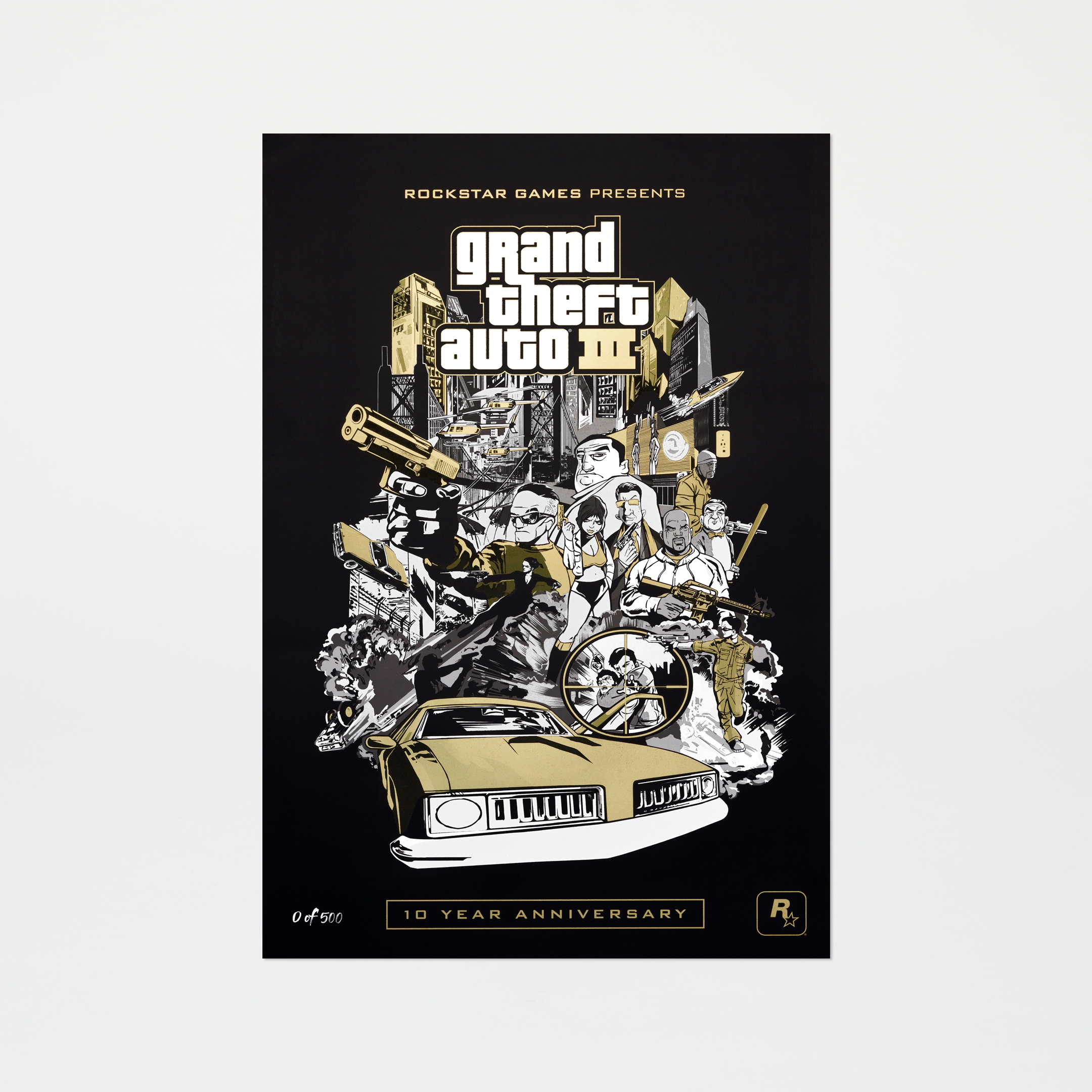 GTAIII Anniversary Limited-Edition EU Cover Lithograph