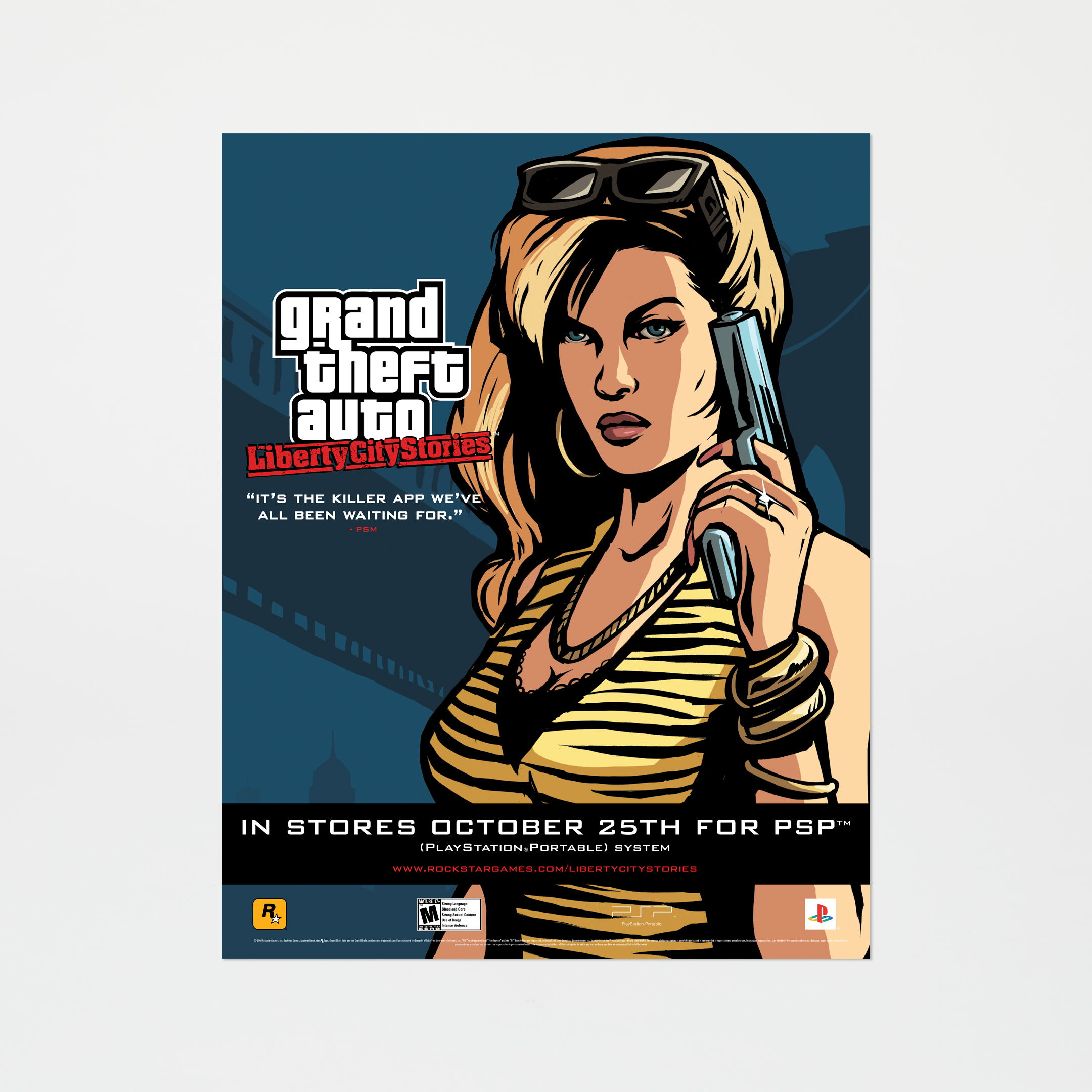 Grand Theft Auto: Liberty City Stories - Gun Girl Poster