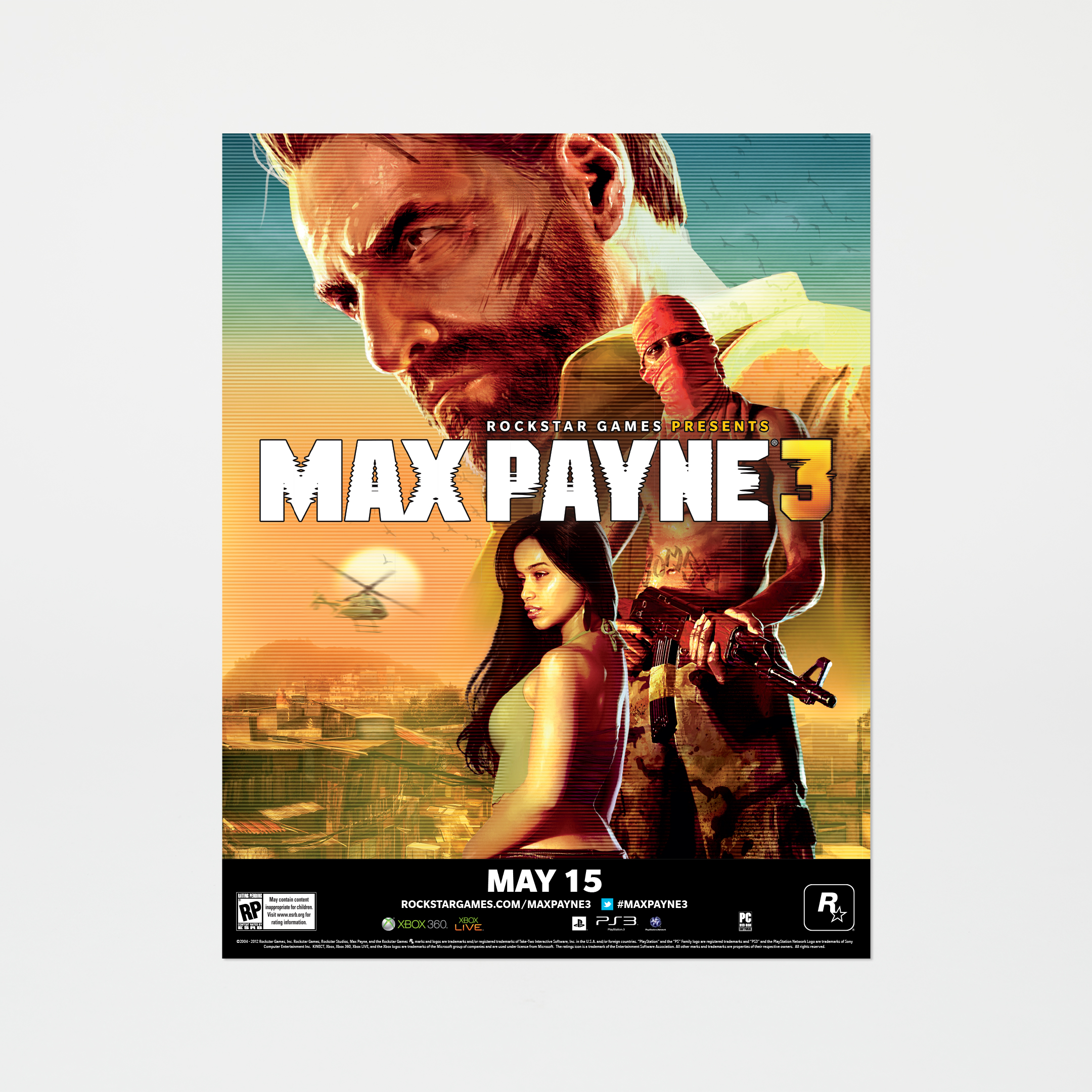 Max Payne 3 Official Cover Art - Poster