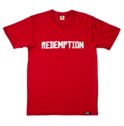 REDEMPTION Tee (White on Red)