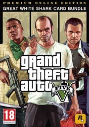 The Grand Theft Auto V: Premium Online Edition & Great White Shark Card Bundle