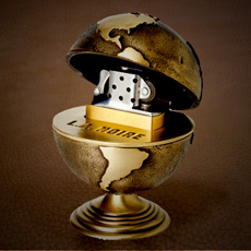 L.A. Noire Golden Globe Table Lighter
