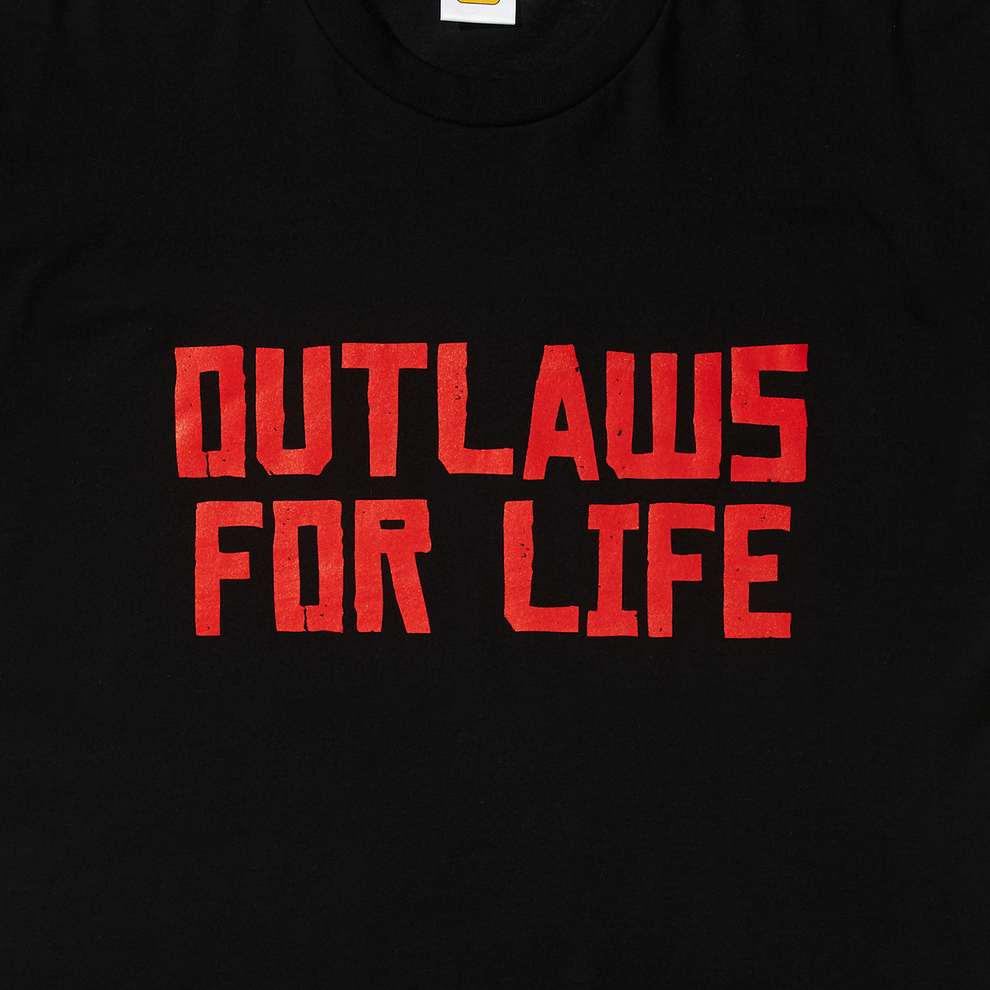 OUTLAWS FOR LIFE Tee (Red on Black)   Rockstar Warehouse