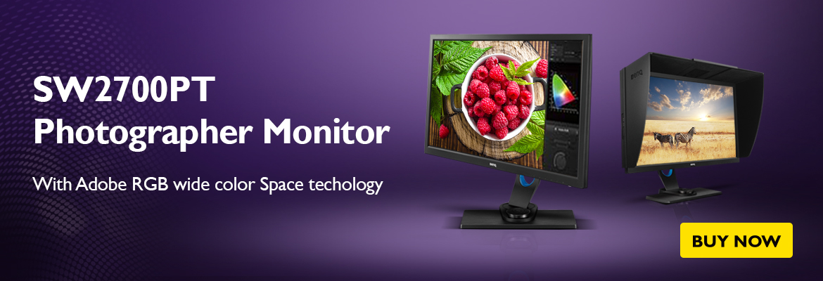BenQ SW2700PT 27 inch Adobe RGB Color Management Monitor for Photographers